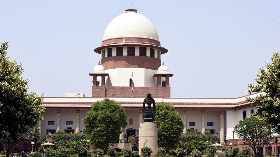 A view of Supreme court in New Delhi