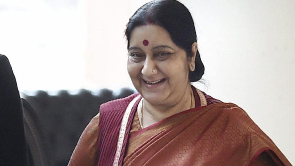 Sushma Swaraj,External Affairs Minister,Kancheepuram