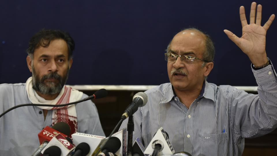 Swaraj India was founded by Yogendra Yadav and Prashant Bhushan. The party said the Delhi government's representatives did not attend the DMRC board meeting before the fares of Metro were hiked.