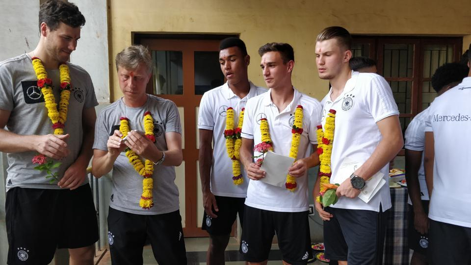 Germany team playing in FIFA U-17 World Cup are really loving what India has to offer.