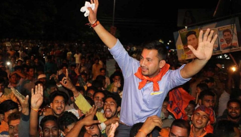 On Tuesday, the ABVP won the elections in the MB (PG) College Haldwani, the biggest college of Kumaon.