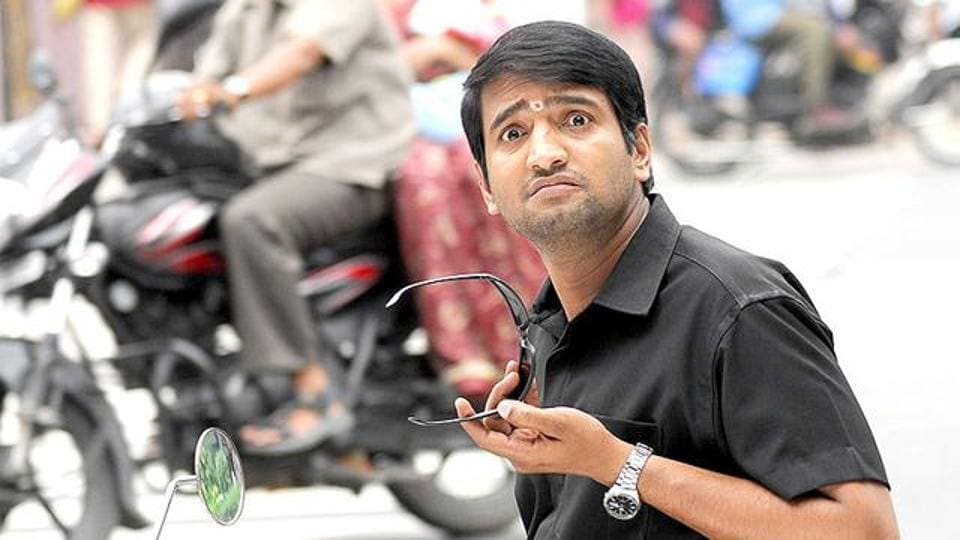 Tamil actor N Santhanam excels in comic roles.