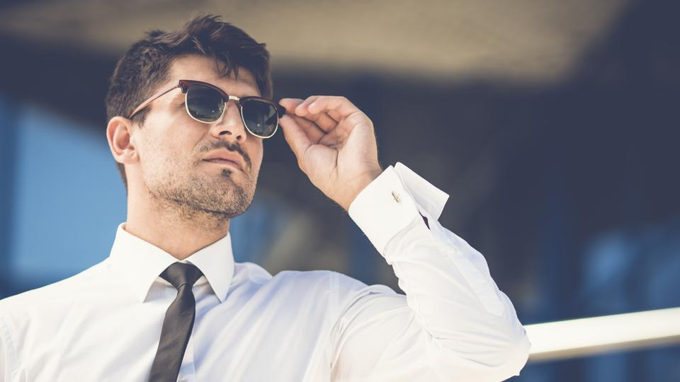 The dark tinted sunglasses reduce the glare of reflective surfaces which makes them suitable for driving.