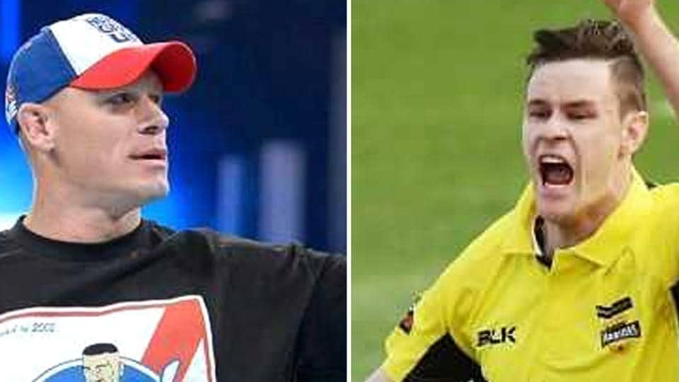 When Jason Behrendorff was busy running through the Indian cricket team's batting line-up in Guwahati T20, there were posts on social media over his supposed likeness to WWE wrestler John Cena.