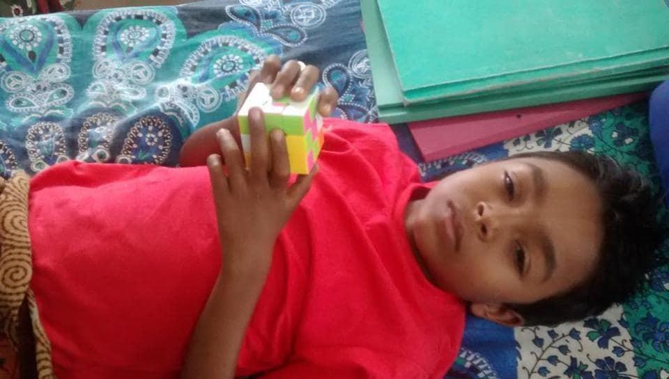 Nine-year-old Charan Salve from Aurangabad is undergoing treatment at KEM Hospital, Parel.