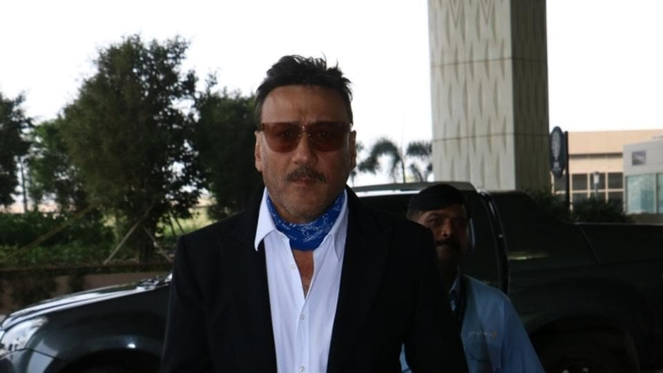 Jackie Shroff seen at Chhatrapati Shivaji Maharaj International airport in Mumbai.