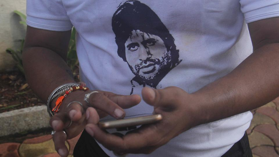 'Bachchan on my mind and T-shirt too.' (Pramod Thakur/HT PHOTO)