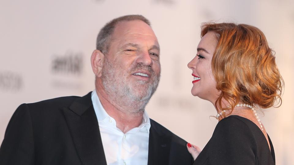 """I feel very bad for Harvey Weinstein right now, I don't think it's right what's going on,"" said Lindsay Lohan."