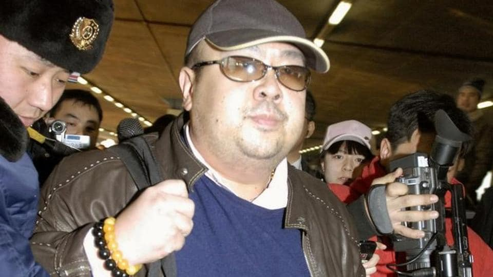 Kim Jong Nam arrives at Beijing airport in China in this photo taken by Kyodo on February 11, 2007.