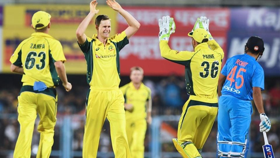 Australia's Jason Behrendorff picked up four wickets against India in the second T20 at the Assam Cricket Association Stadium in Guwahati on Tuesday.