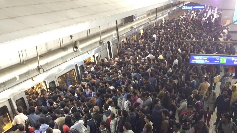 This rush in Delhi Metro is a common sight. In the absence of proper crowd management and facilities like clean toilets, DU students feel it's not justified to hike fares twice within a year.