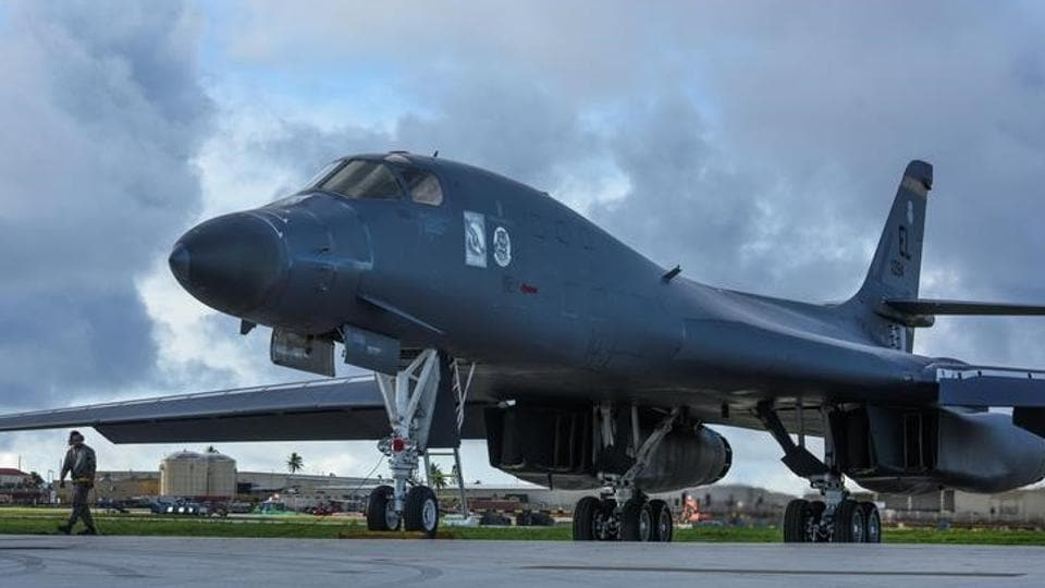 Two B-1B Lancers based in Guam flew a mission in the vicinity of the Sea of Japan late Tuesday.