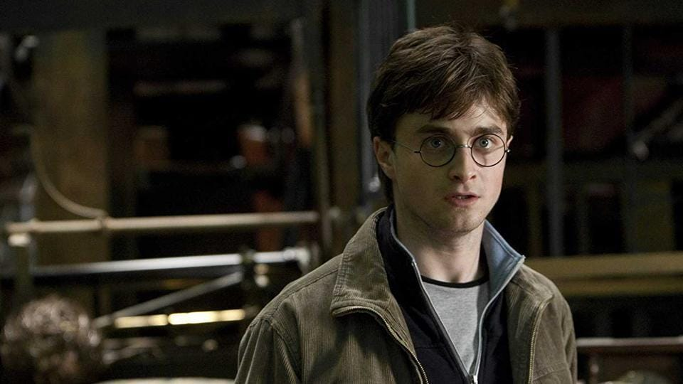 Daniel Radcliffe as Harry Potter in a still from the movie Harry Potter and the Deathly Hallows part II.
