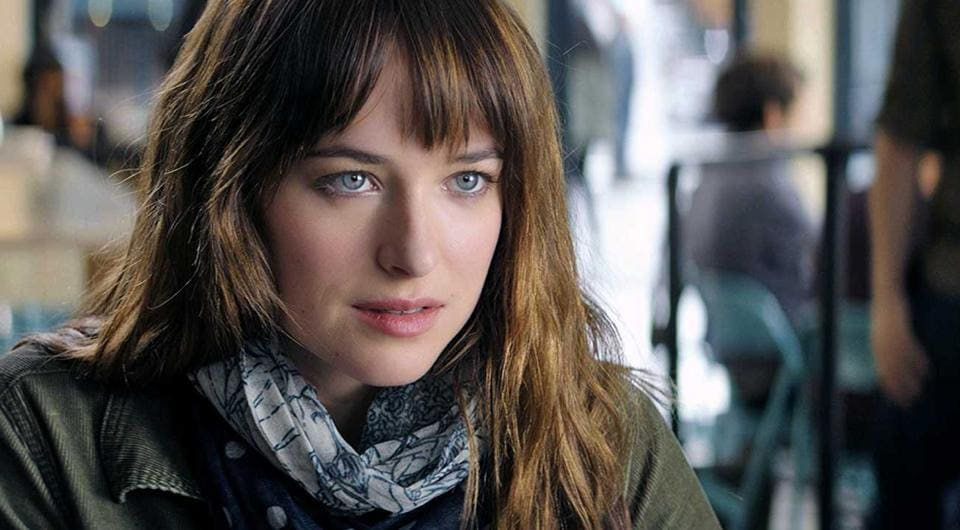 Actor Dakota Johnson in a still from the 2015 movie Fifty Shades of Grey.