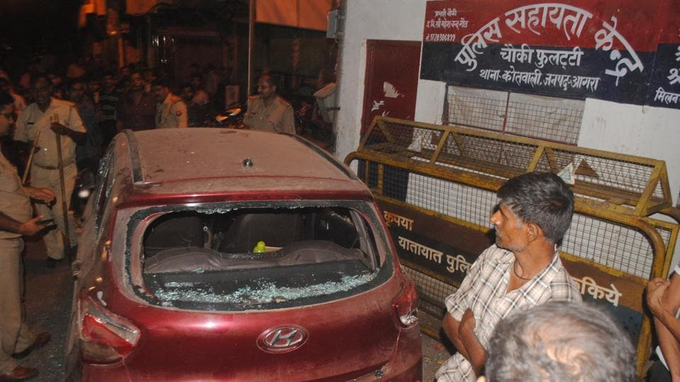 Violence in Agra,VHP leader,Clash