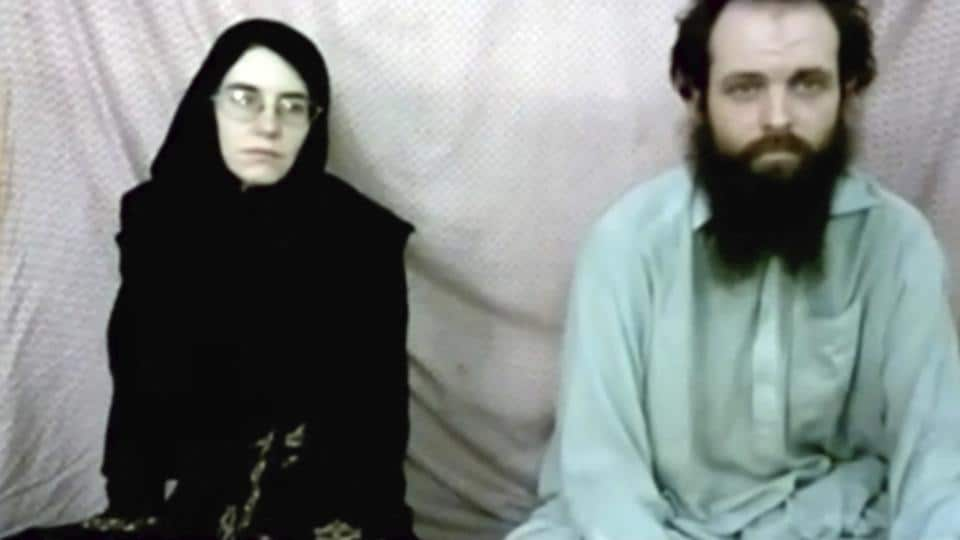 This still image from a 2013 militant video shows Caitlan Coleman and her husband, Canadian Joshua Boyle. The American woman, her husband and their three young children were freed in October 2017 after five years of being held captive by the Haqqani Network. The two were abducted while traveling in Afghanistan and had three children in captivity.