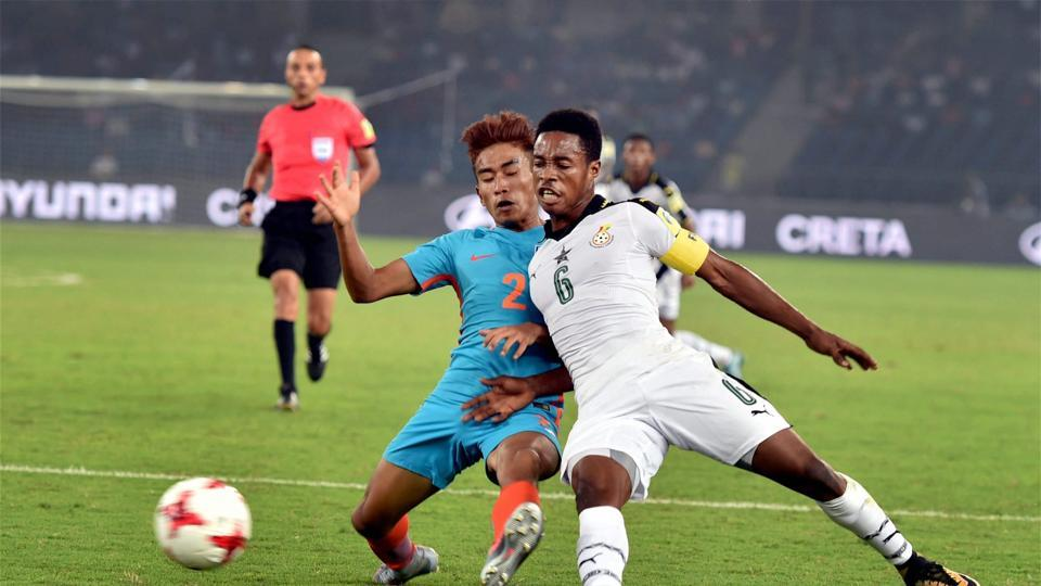 Ghana started briskly but India were able to hold on well as they frustrated the visitors. (PTI)