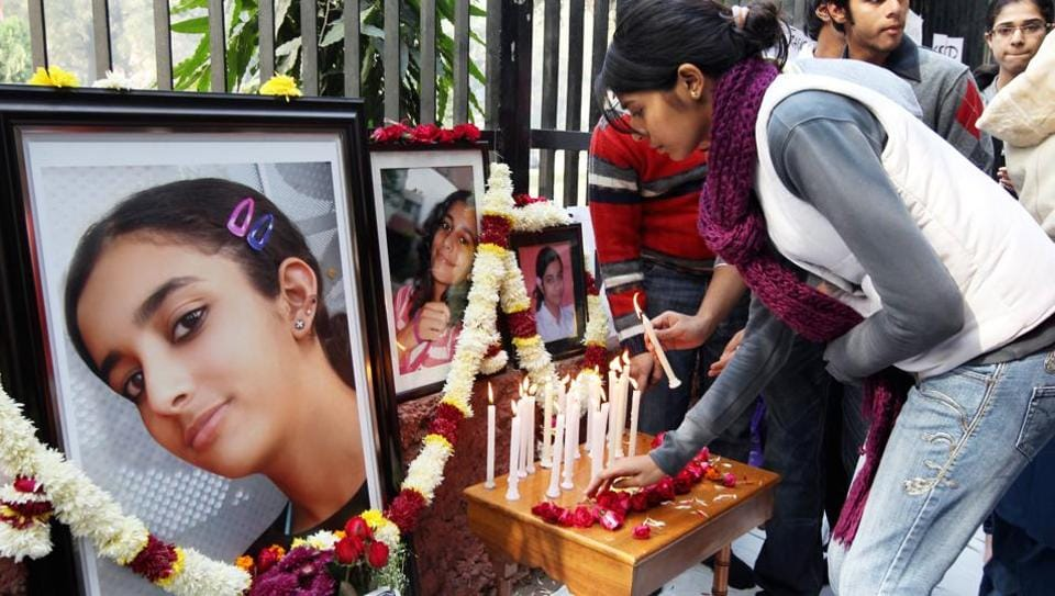 File photo of Rajesh and Nupur Talwar during a sit-in in New Delhi demanding justice for their daughter Aarushi who was found dead in her bedroom in May 2008.