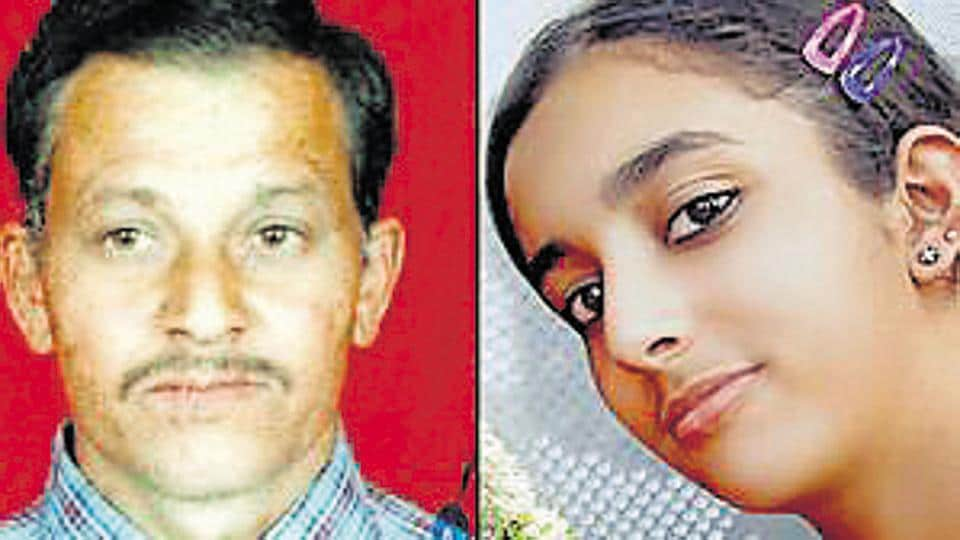 DPS student Aarushi Talwar and the domestic help Hemraj.