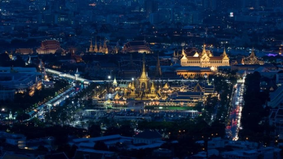 An aerial view shows the Royal Crematorium site for the late King Bhumibol Adulyadej in Bangkok. Artisans have worked for ten months in Bangkok's ancient quarter to build an elaborate cremation site fashioned after a vision of heaven, where Thais believe dead royals return to live above Mount Meru, a golden mountain in Hindu mythology. (Athit Perawongmetha / REUTERS)