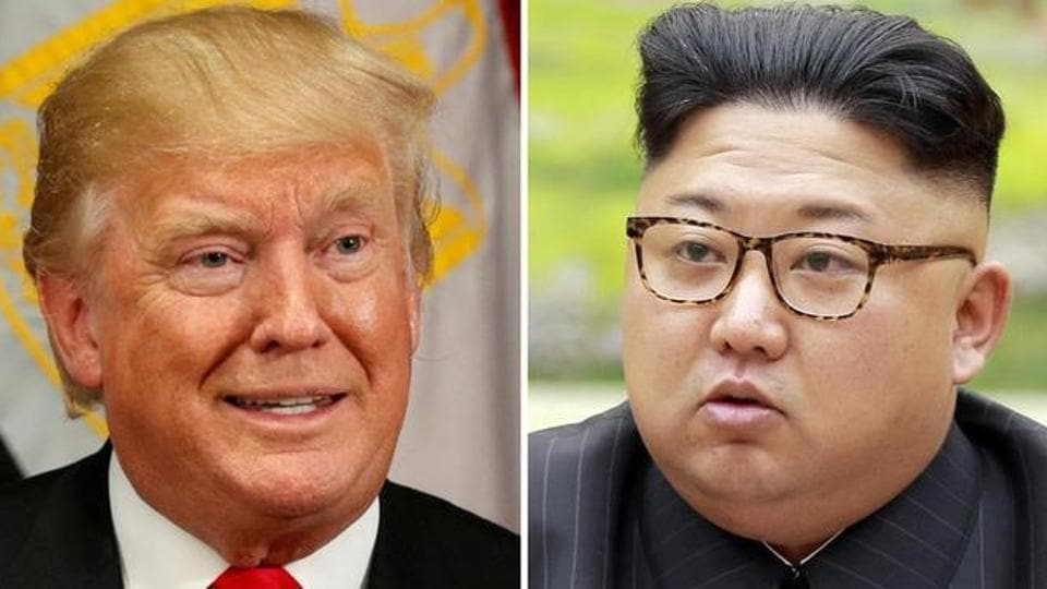 US President Donald Trump and North Korean leader Kim Jong-Un. North Korea has test-fired several missiles and conducted what it said was a test explosion of a hydrogen bomb as it advances toward its goal of developing a nuclear-tipped missile capable of hitting the US mainland.