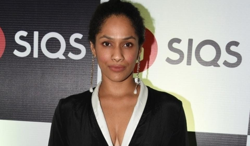 Fashion Designer Masaba Gupta during the launch of SIQS Entertainment in Mumbai .