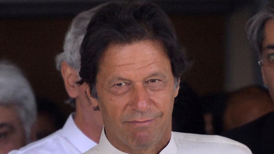 Head of Pakistan Tehreek-e-Insaf (PTI) party Imran Khan.