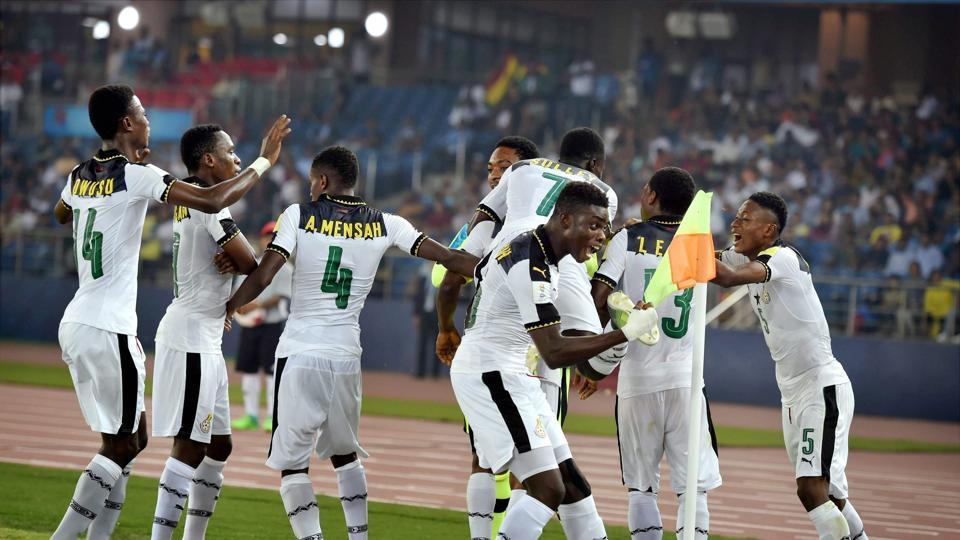 Ghana's players drove home the advantage as they closed in on a spot in the round of 16. (PTI)