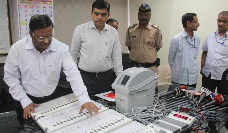 Maharashtra used the paper trail machine for the first time in Nanded civic polls.