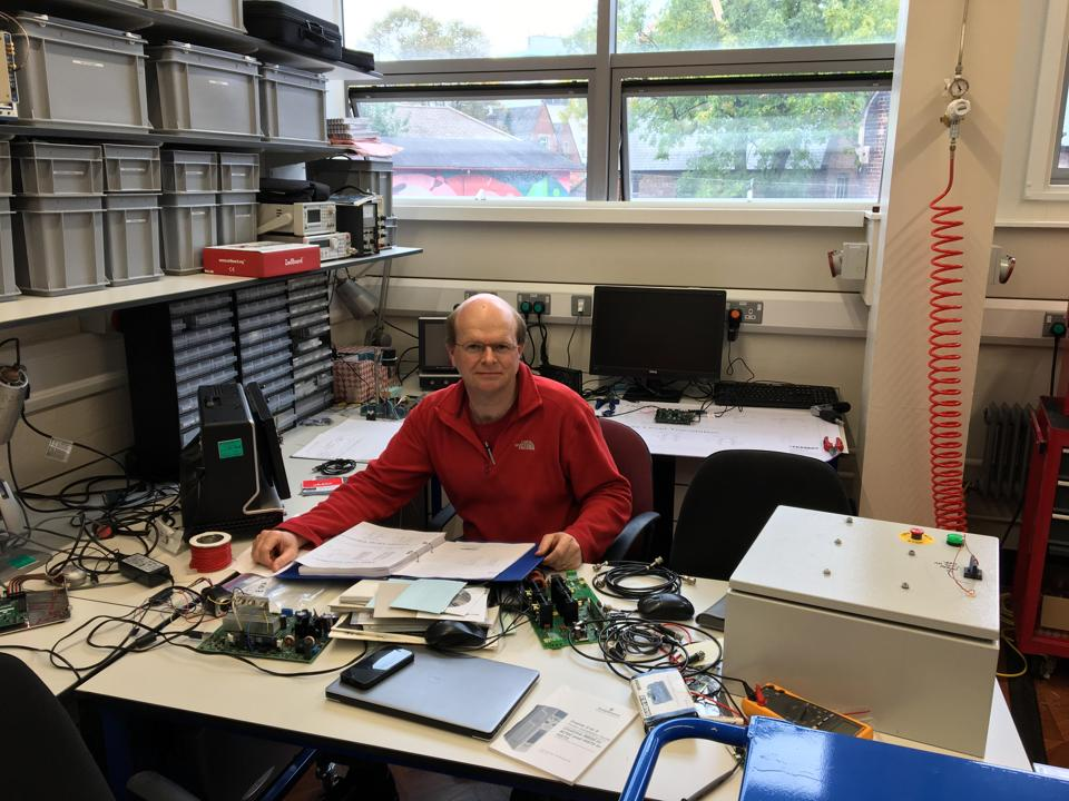 Dr Ed Daw , reader in gravitational waves and dark matter physics , at his lab at the University of Sheffield , UK. He was interviewed for his post doctorate studies at the Massachusetts Institute of Technology by Rainer Weiss,  one of the recipients of the physics Nobel this year.