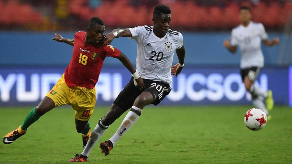 By finishing second in Group C Germany have set up a round 16 clash with Colombia  in FIFA U-17 World Cup.