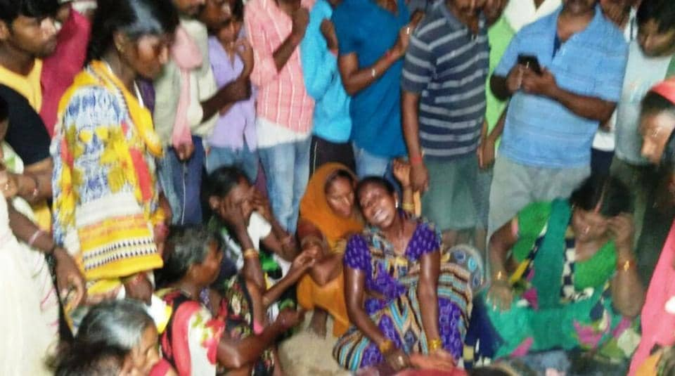 The wailing relatives of the victim at Bhabua in Bihar's Kaimur district.
