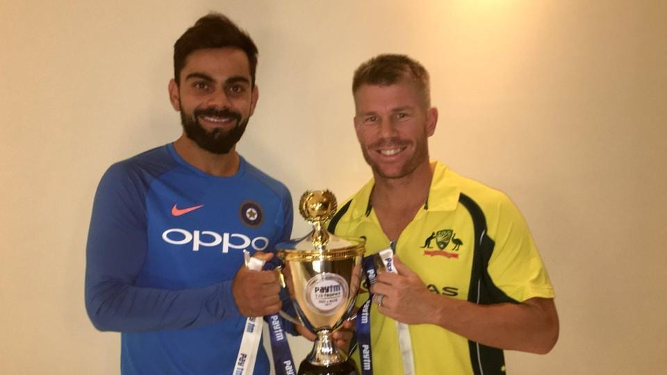 The third and deciding Twenty20 international between India and Australia was abandoned without a ball being bowled after the officials called off play due to wet outfield in Hyderabad Friday. (Twitter)