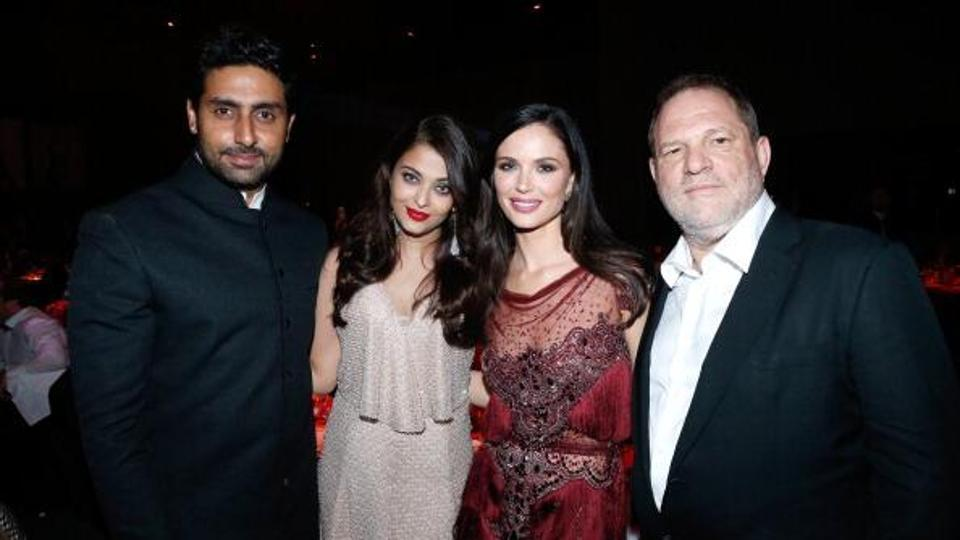Aishwarya Rai has met Harvey Weinstein several times professionally, including at the AmFar Gala and the Cannes International Film Festival.