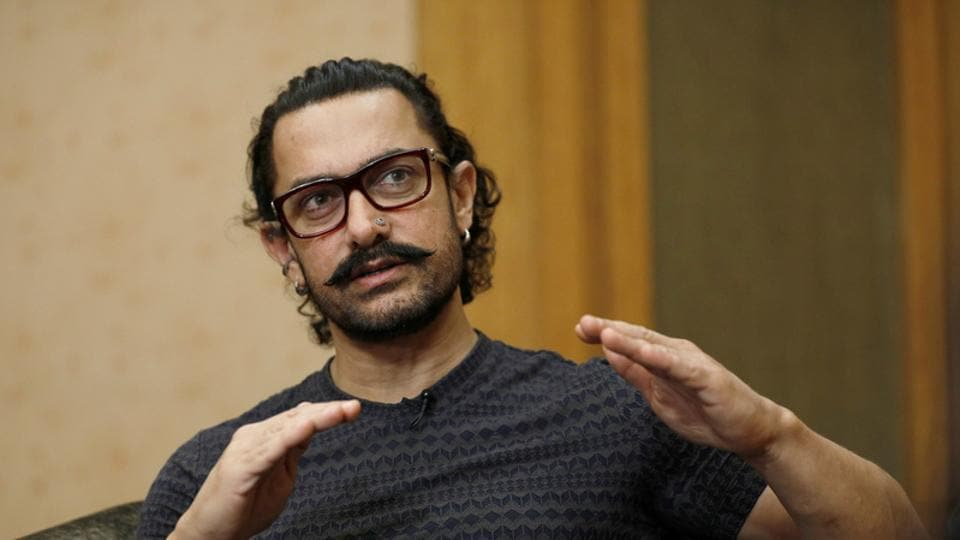Aamir Khan speaks during an interview in Singapore on October 2, 2017.