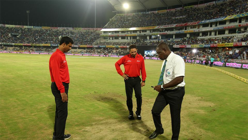 The umpires waited for over two hours for conditions to improve, but had to finally call off the game without the near-capacity crowd at the Uppal Stadium even witnessing the toss. (BCCI)