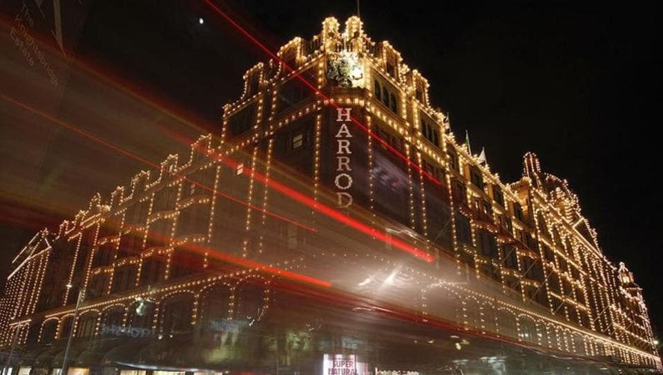 Harrods department store in Knightsbridge, central London.