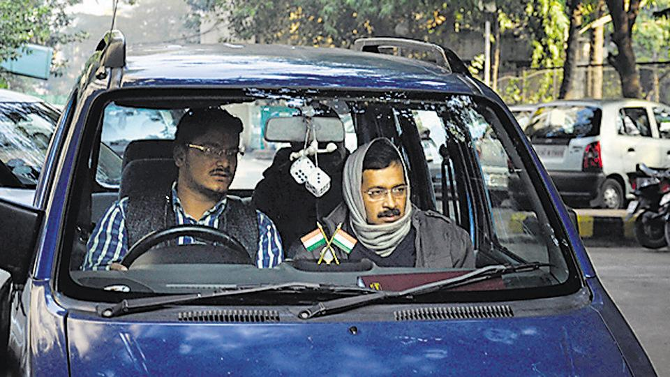 Delhi Chief Ministar Arvind Kejriwal blue car (in pic) has been stolen.