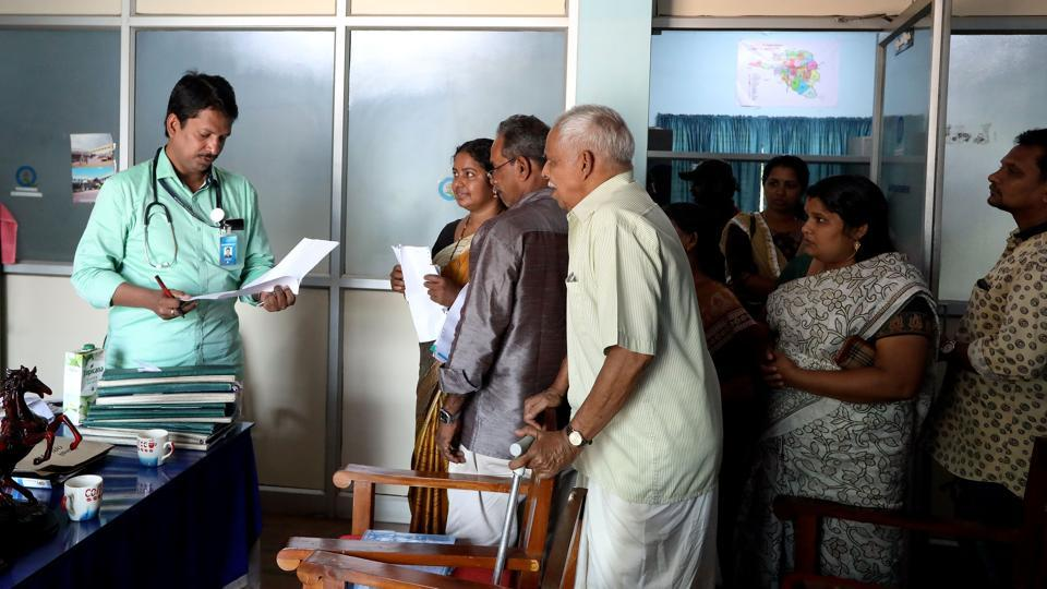 Dr Shahirsha, Superintendent of the Punalur hospital.