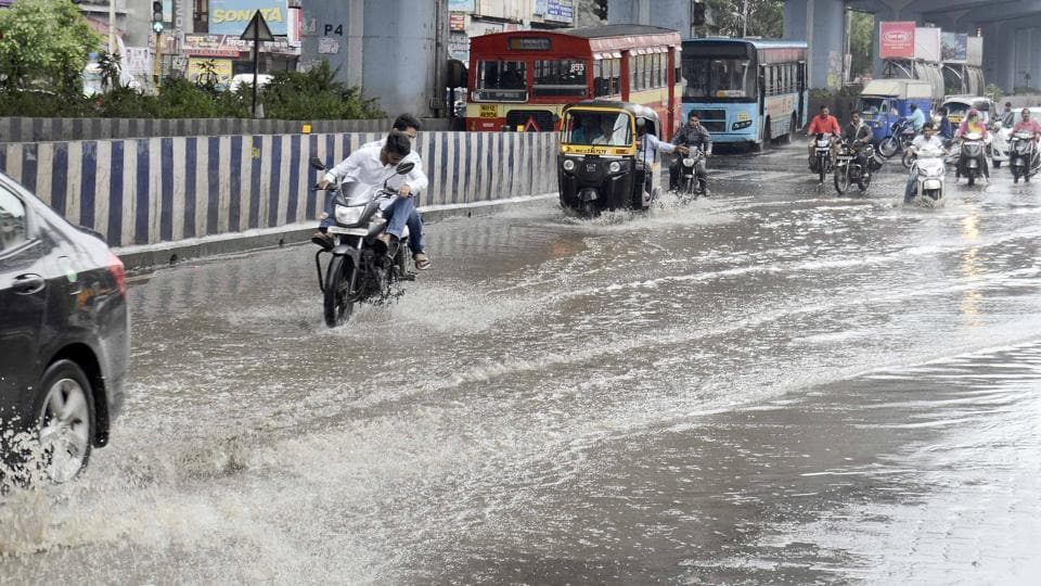The heavy rains on Friday brought the city to a standstill with flooded roads and traffic jams.