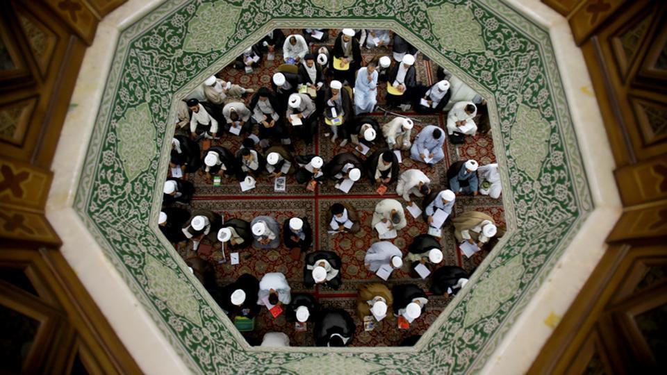 Shi'ite clerics study at al-Gharawiya school run by the Hawza al-Ilmiyya in Najaf, Iraq. For more than 1,000 years, the Hawza al-Ilmiyya south of Baghdad has been one of the hearts of Shi'ite Islamic scholarship, training clerics who lead Shi'ite communities across the Muslim world. (Abdullah Dhiaa Al-deen / REUTERS)