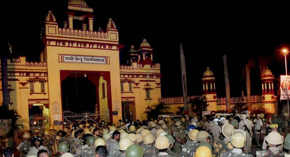 A female student was allegedly harassed by bike-borne miscreants on the Banaras Hindu University campus , barely 20 days after the varsity erupted in protest demanding campus safety.