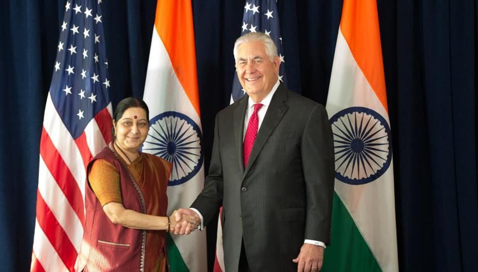 Rex Tillerson,Narendra Modi,Sushma Swaraj
