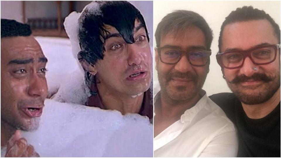 Aamir Khan,Ajay Devgn,Ishq Reunions