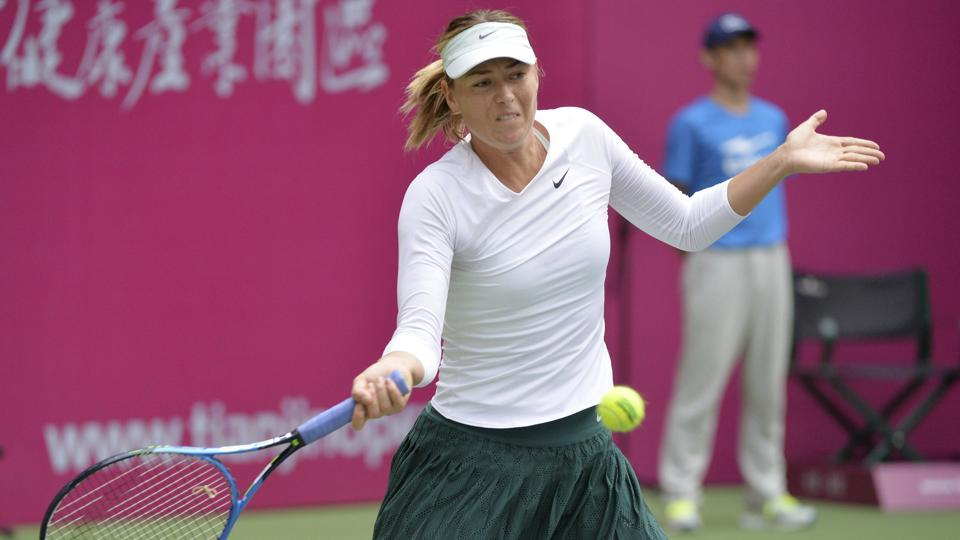 Russian tennis player Maria Sharapova has reached her first women's singles final since her return from the doping ban.