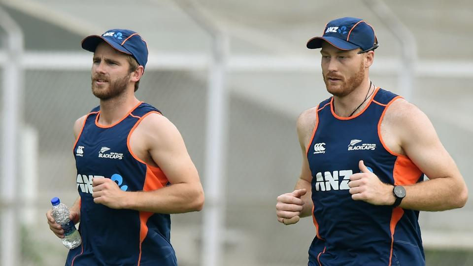 Kane Williamson and Martin Guptill practised ahead of their three-match ODI series against India starting on October 22 in Mumbai. (AFP)