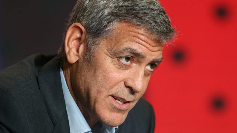 Director George Clooney attends a news conference to promote the film Suburbicon at the Toronto International Film Festival.