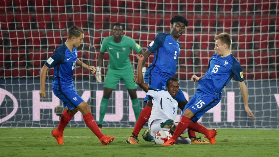 France thrashed Honduras 5-1 in a Group E match of the FIFA U-17 World Cup on Saturday.