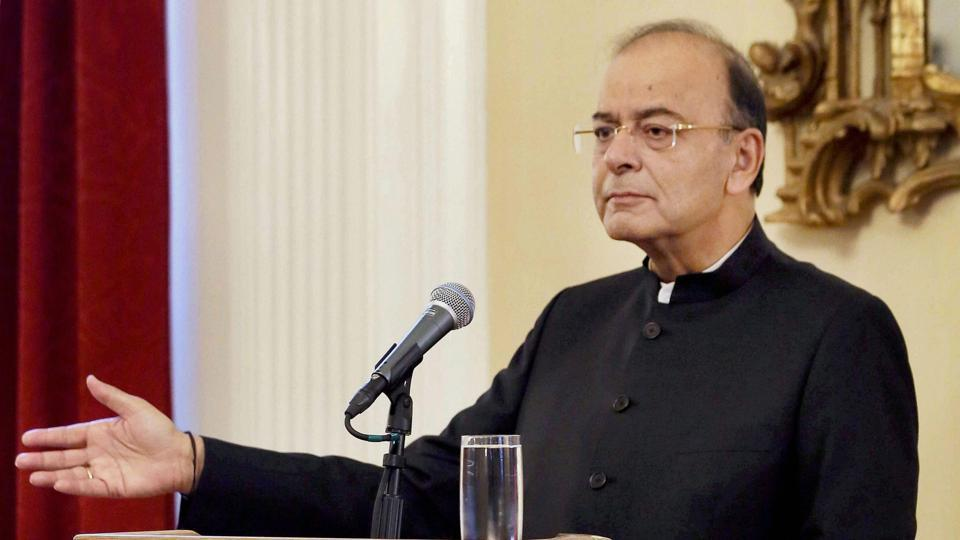 Finance Minister Arun Jaitley at the Harvard South Asia Institute in Boston on Wednesday.