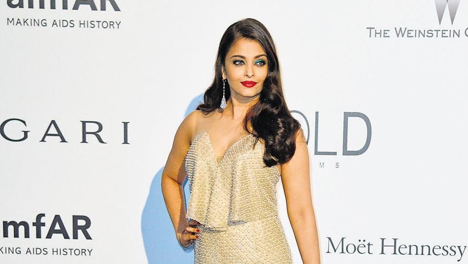 Indian actress Aishwarya Rai Bachchan poses at the 67th Cannes Film Festival on May 22, 2014.